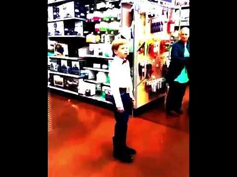 Little kid yodelling in walmart (EAR RAPE)