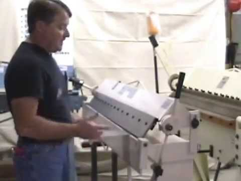 Sheet Metal Box Amp Pan Brake Tutorial Grizzly Brake In