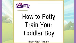 How to Potty Train Your Toddler Boy
