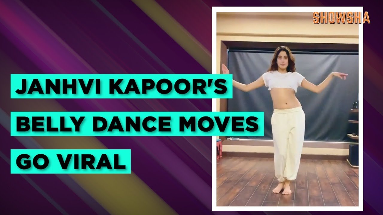 Janhvi Kapoor gives a glimpse of her belly dance session; Watch video