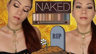 RIP Urban Decay NAKED Palette ll Gold Cut Crease Makeup Tutorial