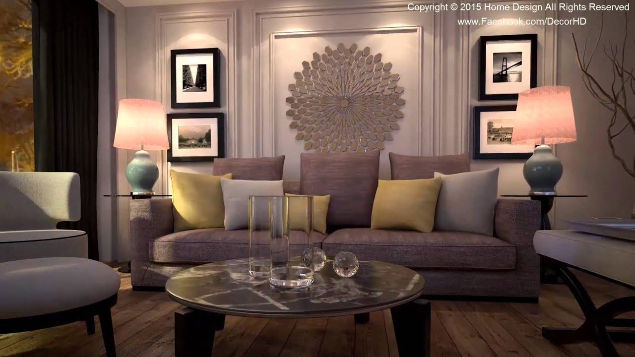 Living room 3D Animation - YouTube
