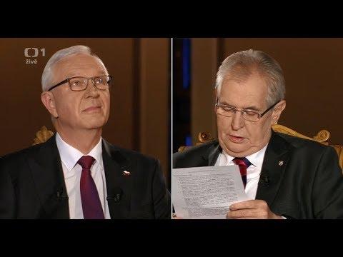 Miloš Zeman Vs Jiří Drahoš 25.1 Debata Na ČT1(Trapas) ! Jiří Drahoš Zklamal A Miloš Zeman Usnul!