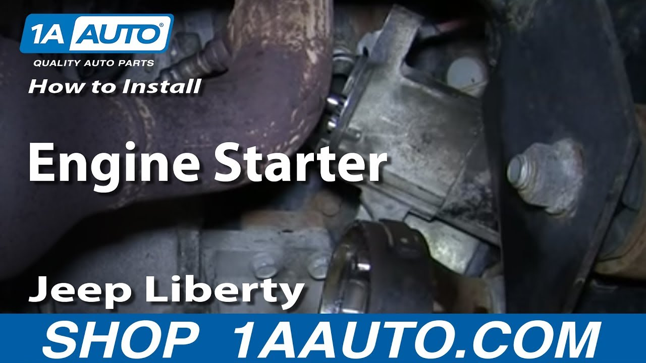 small resolution of how to install replace engine starter 3 7l 4wd 2002 07 jeep liberty