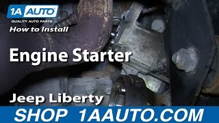 How To Install Replace Engine Starter 3.7L 4WD 2002-07 Jeep Liberty