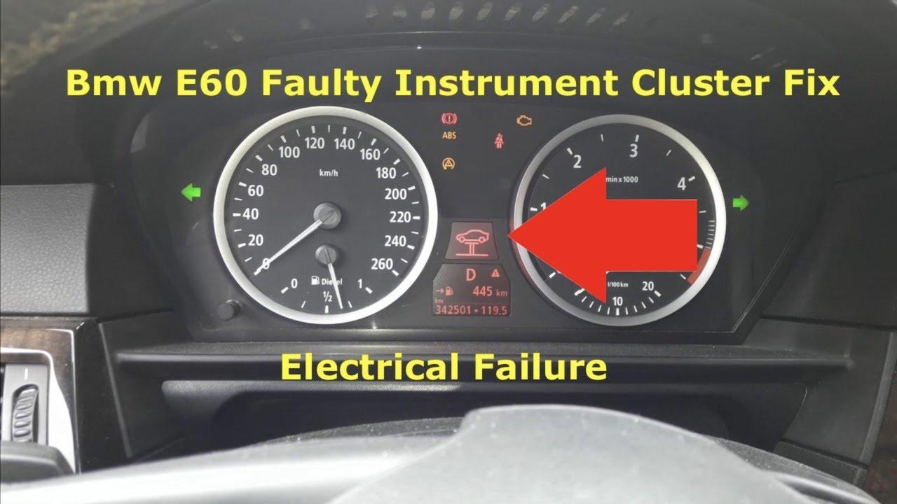 Bmw E60 E61 Central Electronics Failure Fix Part 2 Instrument Cluster  Faulty Big time