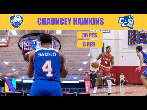 Chauncey Hawkins St  Francis BKN Terriers 38 PTS 6 REBS Vs Central Connecticut State | CAREER HIGH!