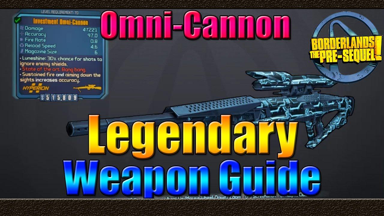 Borderlands The Pre Sequel   UVHM Legendary Weapon Guide   The Omni-Cannon    Sniper Rifle