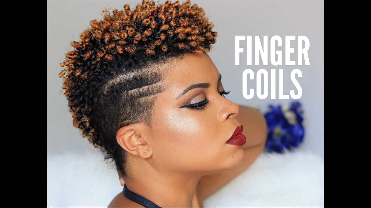 natural hair | how to - sexy finger coils on natural tapered hair