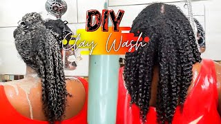 "THIS DIY CLAY WASH CHANGED MY TYPE 4 ""NATURAL HAIR"" 