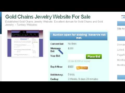 Preview Gold Chains Jewelry Website For Sale