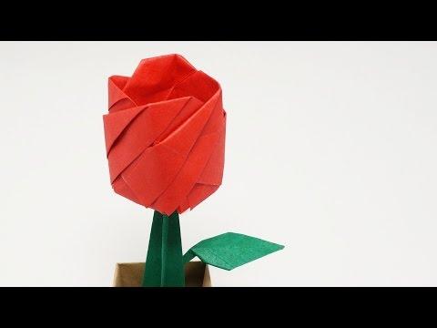 ORIGAMI ROSE IN A POT - Time-lapse (Jo Nakashima) - YouTube - photo#42