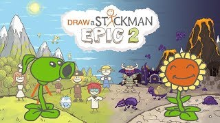 PLANTS VS ZOMBIES Draw a Stickman Epic 2 Gameplay - PeaShooter Save SunFlower