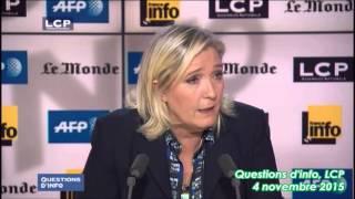 Marine Le Pen : « Nous avons fait un colloque extrêmement intéressant sur NDDL, avec nos élus »