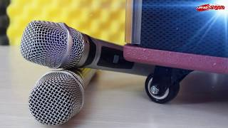 Test âm thanh của loa di động tích hợp 10.000 bài hát của Loa SHUPO BT- 409
