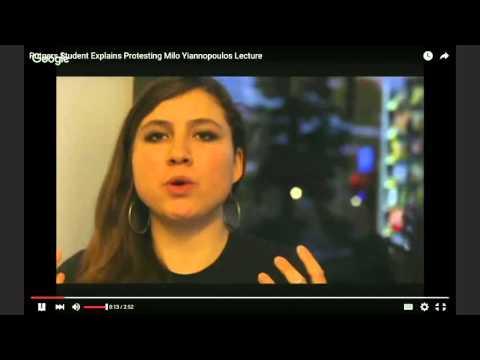 Rantzerker 41: Rutgers student femsplains Milo protest