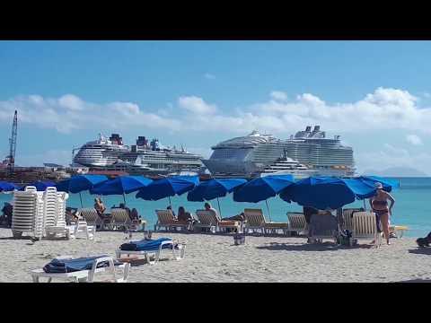 Copie de St Maarten Philipsburg Boardwalk 27th Feb 2018 after hurricane Irma St Martin