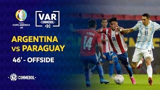 Copa América | Revisión VAR | ARGENTINA vs PARAGUAY | Minuto 46