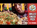 Slice of Cheesie's Grilled Cheese Pizza Food Review | Official V.I.P. Grand Opening Video
