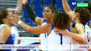 Liga Nacional de Voleibol Femenino - Copa Movistar 2019/2020 → Resumen de la fecha 2
