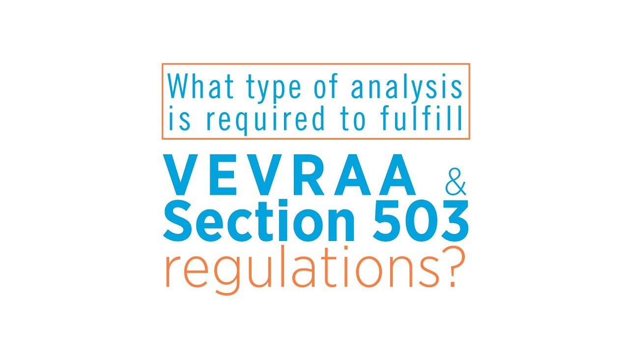 VEVRAA & Section 503 Analysis Requirements - YouTube