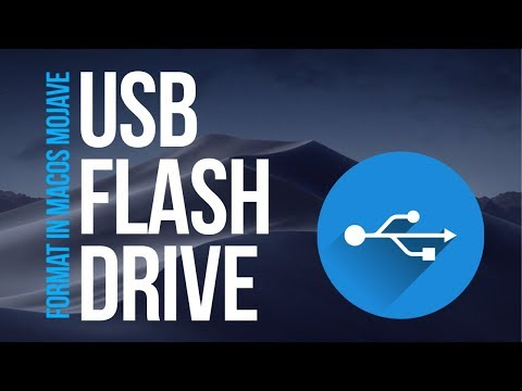 How to Format USB flash drive in macOS Mojave