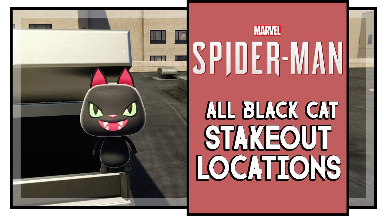 marvel's spider man all black cat stakeout locations & solutions