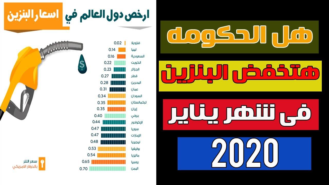 تخفيض سعر البنزين في السعودية 2020