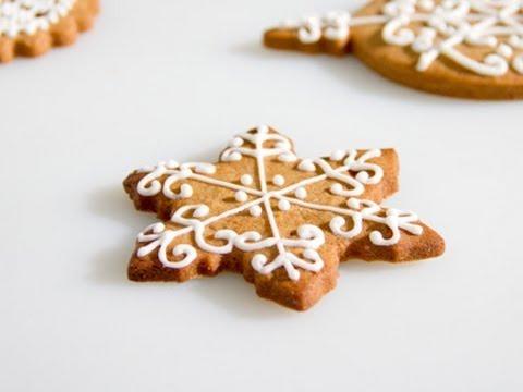 Cómo decorar galletas de jengibre para Navidad - YouTube