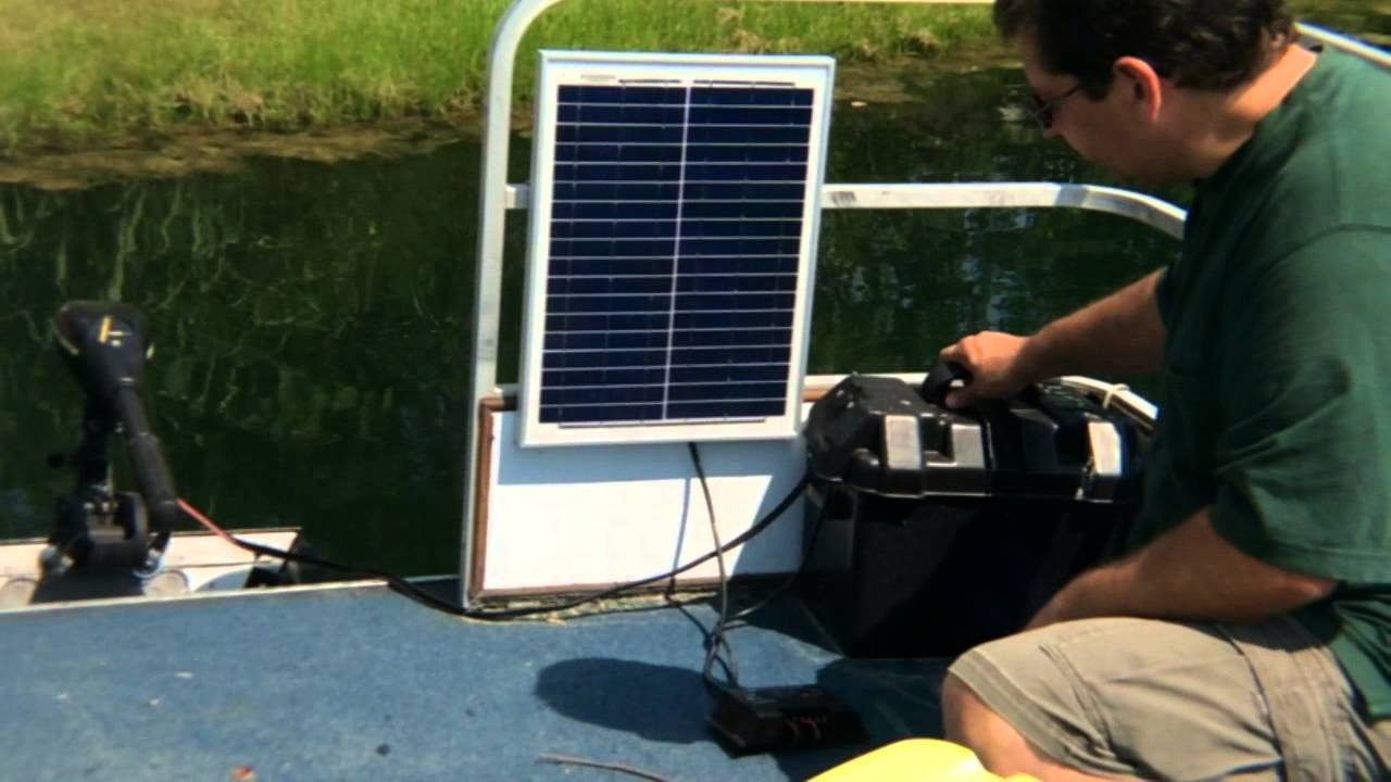 How To Use Solar To Power A Boat Trolling Motor Youtube