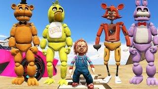 animatronics chucky killer doll stunt on world s biggest ramp gta 5 mods fnaf funny moments