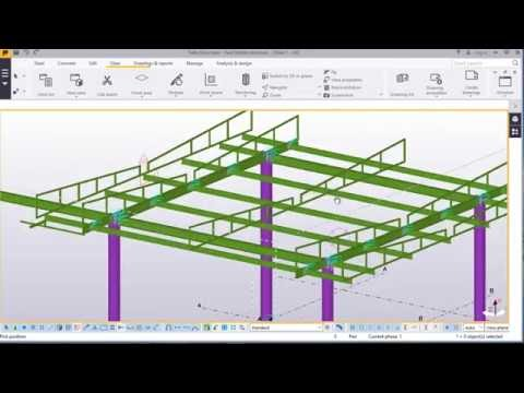 Modelling a simple fuel station structure Part-3 in TEKLA STRUCTURES 2016
