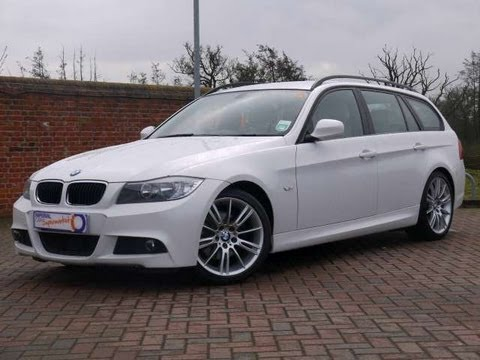 2010 bmw 320d m sport business edition touring white for sale in hampshire youtube. Black Bedroom Furniture Sets. Home Design Ideas