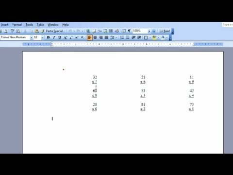 How to Make Worksheets With Microsoft Word : Microsoft Word & Excel