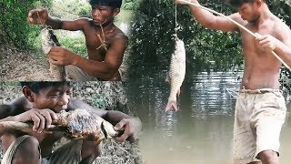Primitive Technology, Primitive fishing, free line fishing