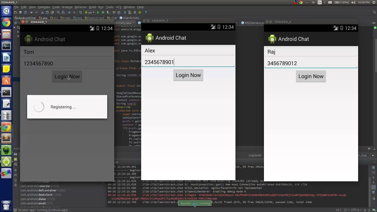 Android building realtime chat app using gcm, php & mysql part 2.