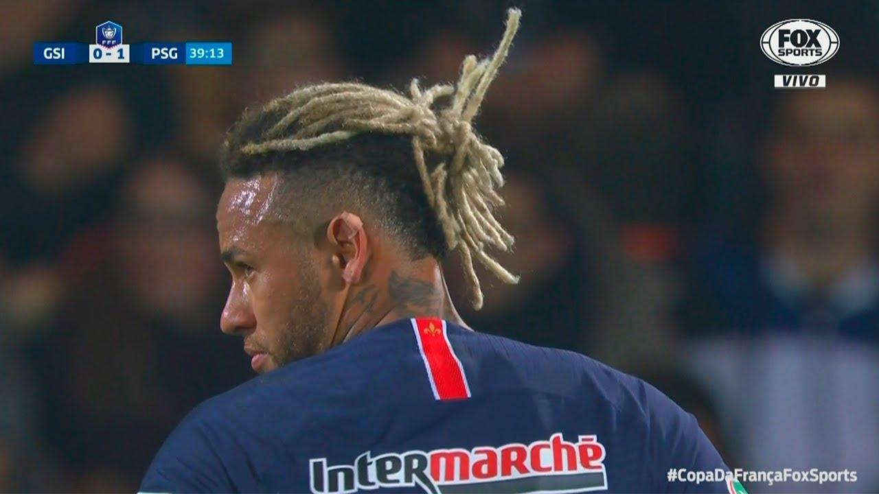 Neymar Hairstyles 2019: Neymar Vs GSI Pontivy HD 1080i (06/01/2019)