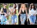 The Kardashian-Jenner Sisters Are Fans of Bermuda Denim Shorts | HS Trending Topics
