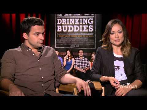 Olivia Wilde and Jake Johnson Went to Work Drunk For Drinking Buddies | POPSUGAR Interview