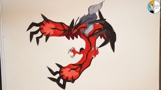 Drawing Yveltal from Pokemon Y || D.V