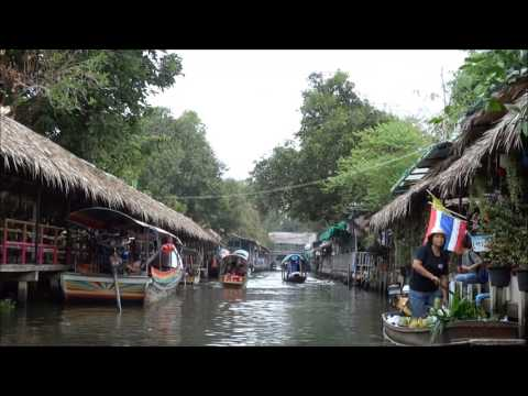 Floating Water Market in Bangkok Thailand canals river