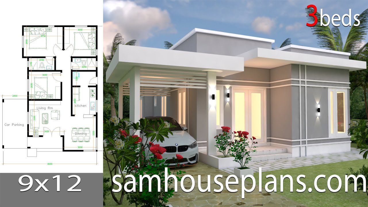 House Plans 9x12 With 3 Bedrooms Full Plans