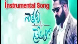 Nanna Ku PremathoTitle Sond instrumental song||Telugu Movie 2016 ||Ntr||Rakhul preet sing||sukumar