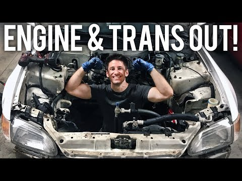DIY ENGINE SWAP | 92 CIVIC ENGINE & TRANSMISSION REMOVAL
