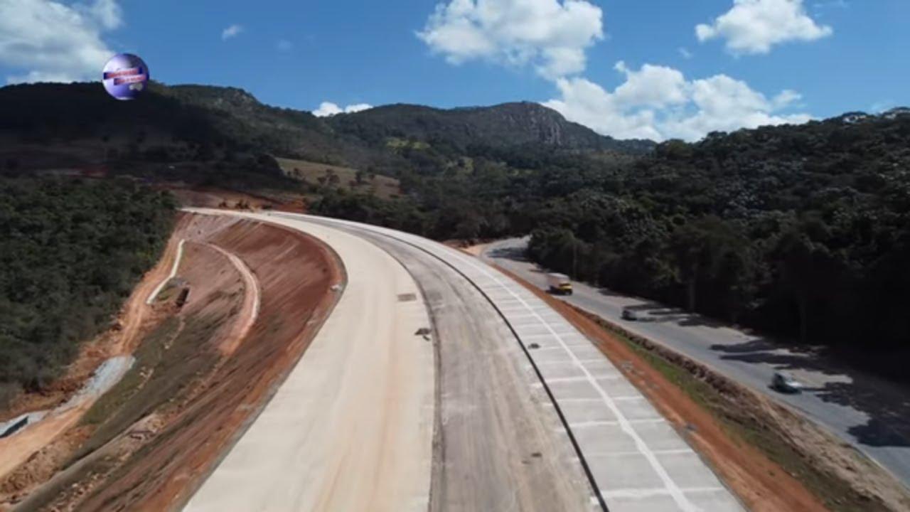BR 381 ATERRO FALTA POUCO PARA LIBERAR O DESVIO, OBRAS DUPLICAÇÃO EM MINAS GERAIS BRASIL