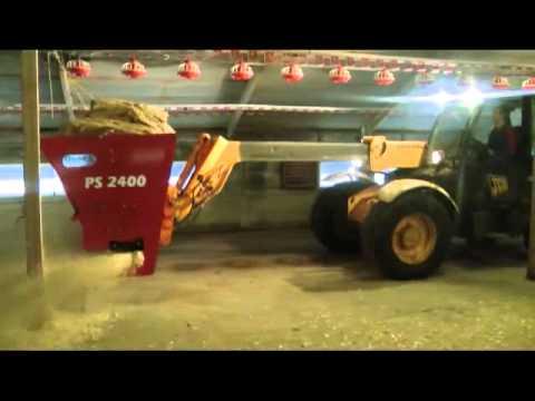 Blaney Agri / Quad-X Poultry Bedder / Spreader - YouTube
