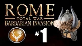 Rome Total War - Barbarian Invasion - Saxons Campaign Part 1: First Conquest!