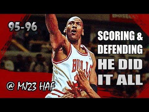 Michael Jordan Highlights Vs Heat (1996.04.04) - 40pts, Scoring&Defense, HE DID IT ALL!
