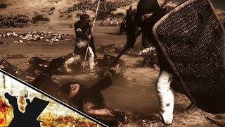 Total War Rome 2 Heroic Spartan Unit vs Egyptian Army Machinima