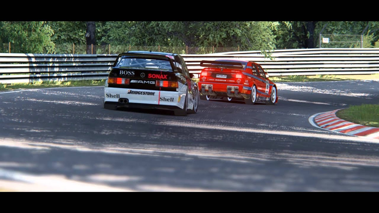 Mercedes benz 190e 2 5 dtm vs alfa romeo 155 v6 ti dtm for Alfa romeo vs mercedes benz